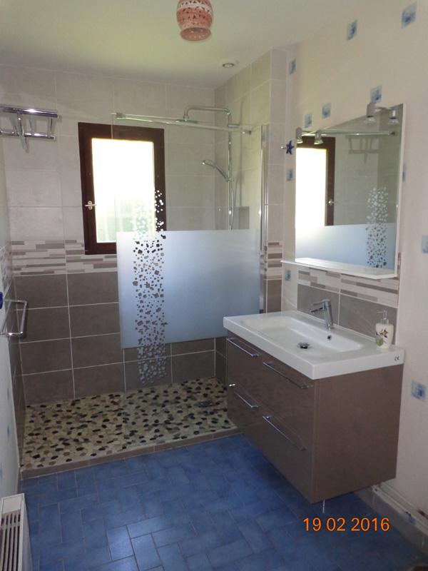 Cr ation et installation de salle de bain val d 39 oise 95 for Pose douche italienne avec receveur