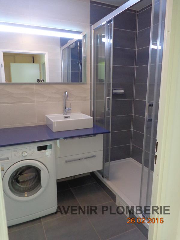 Meuble salle de bain pour lave linge ukbix - Etendoir a linge pour salle de bain ...