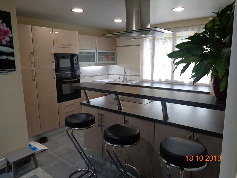 Cuisine installation meubles fa ence vier val d 39 oise 95 - Installer credence cuisine ...